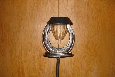 Horse Shoe Solar Light Stake