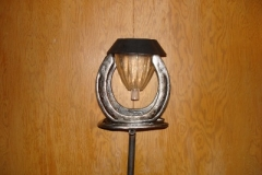 Horse Shoe Solar Light Stake